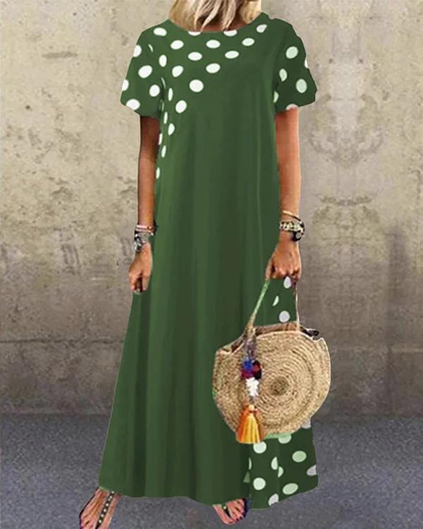 Women Vintage Swing Holiday Short Sleeve Dresses