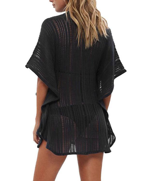Batwing Crochet Beachwear Summer Swimsuit Cover Up