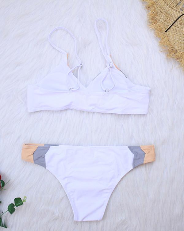 Printed Patchwork Bikini Set