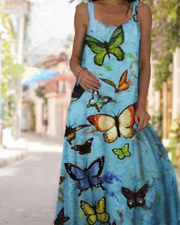 Women's Sexy Print Summer Maxi Dress