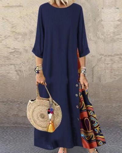Women's Swing Dress Print Maxi Long Dress