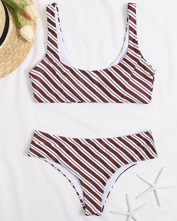 Fashion Leopard Stripe Bikini Sets