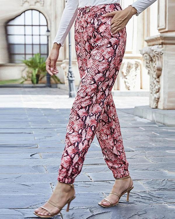 Women's  Print Comfortable Wide-legged Pants