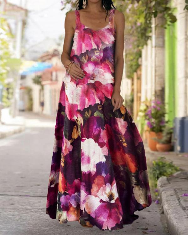 Women's Bohemia Sexy Print Summer Maxi Dress