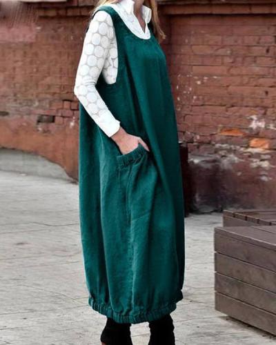 Plus Size Women's Casual Sundress 2021 Kaftan Summer Overall Dress