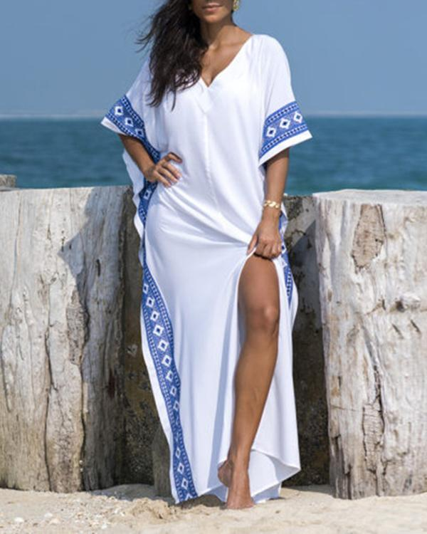 Summer Vacation Style Loose Dress Bikini Cover Up