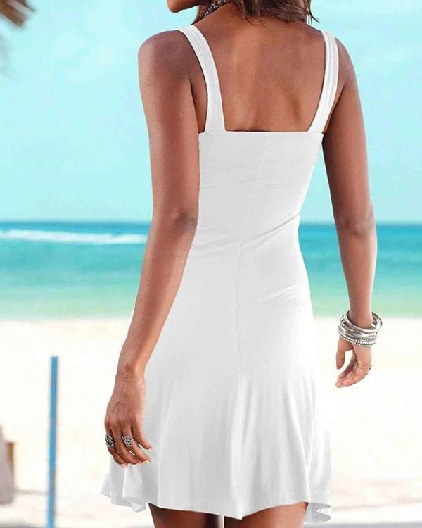 Anchor Boat Print Beach Dress