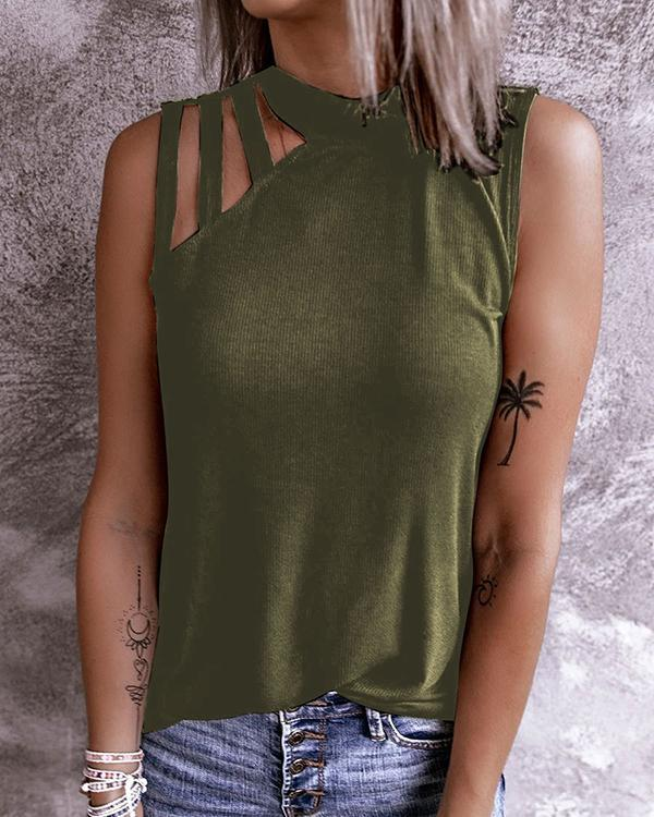 Women Solid Color Sexy Tank Tops
