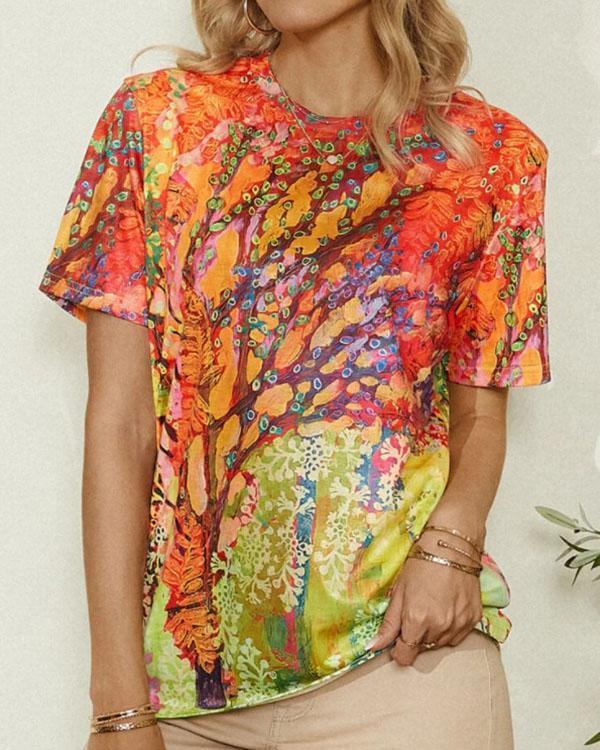Women's Vintage Casual Printed Summer Tops