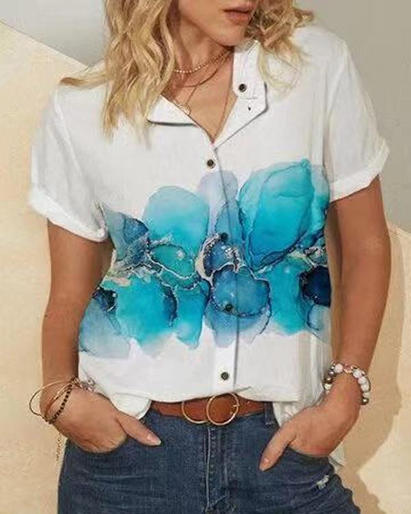 Women's Vintage Printed Summer Shirts Tops