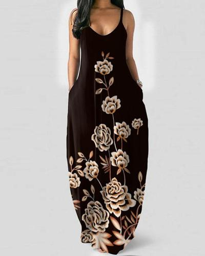 Womens Maxi Dresses Casual Sleeveless Long Dresses