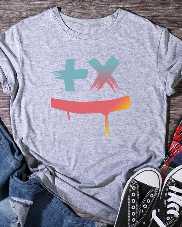 Women's Print Short Sleeve Daily T Shirt