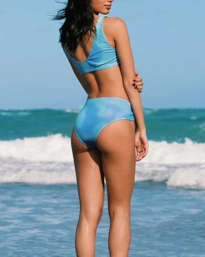 Color-Changing Bikini High Waist Swimsuit