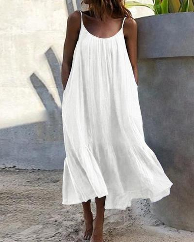 Bohemian Women Sleeveless Summer Vacation Dress