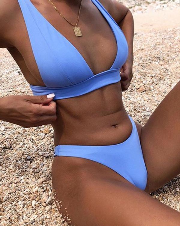 New Sexy Bikini Solid Swimsuit Women Swimwear