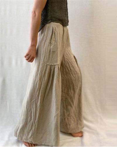 Women's Casual Linen Loose Pants