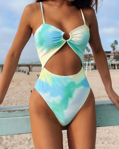 Tie-Dye Bikini Swimsuit 1 Piece