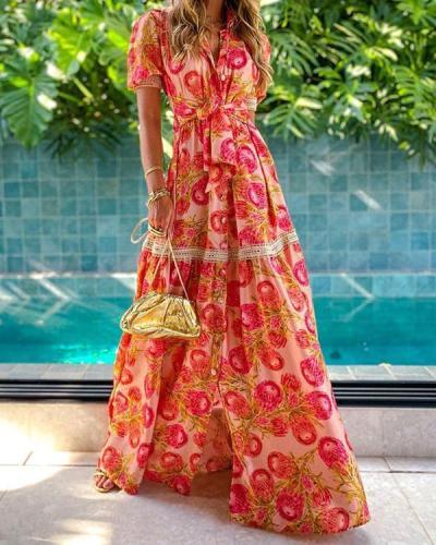 Temperament Printed Long Bohemian Dress
