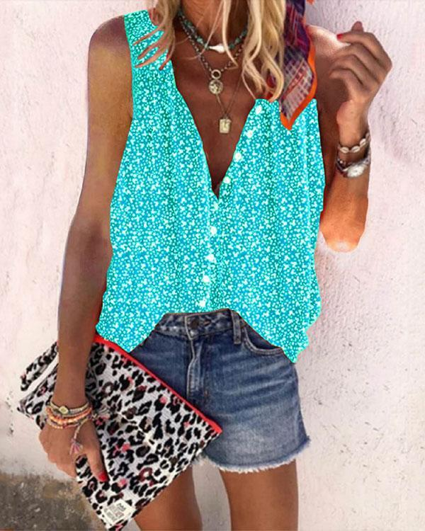 Women Summer Boho Sleeveless Shirts