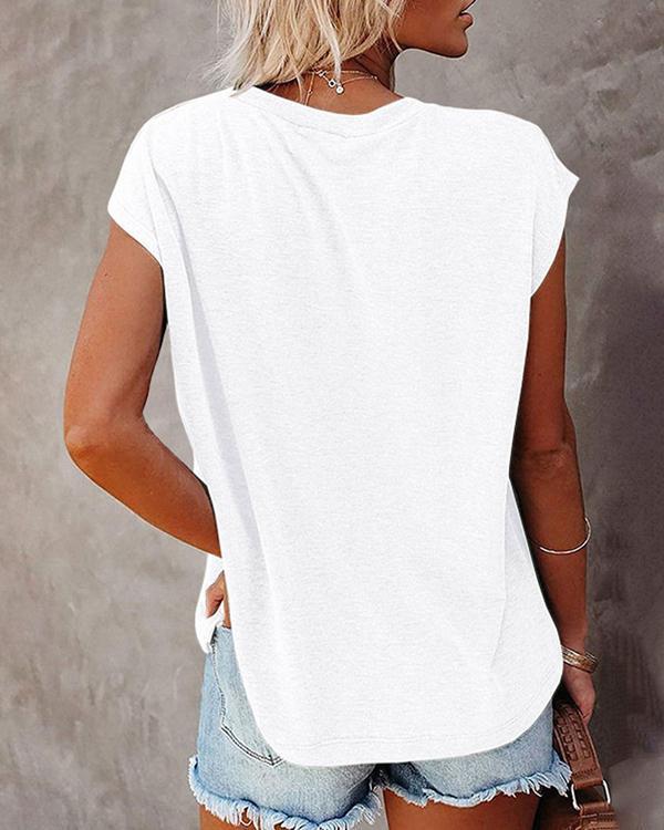 Casual Summer Women's Crew Neck Floral-print T-Shirt