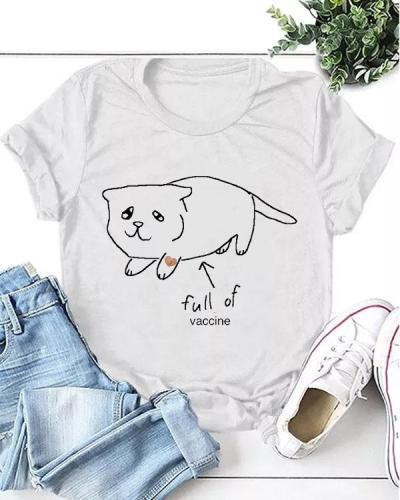 full of vaccine Casual T-shirt