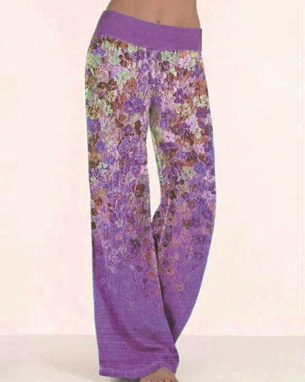 Casual Loose Low Waist Polyester Pants