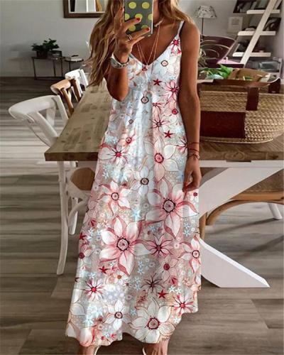Women Casual Loose Bohemian Long Dress