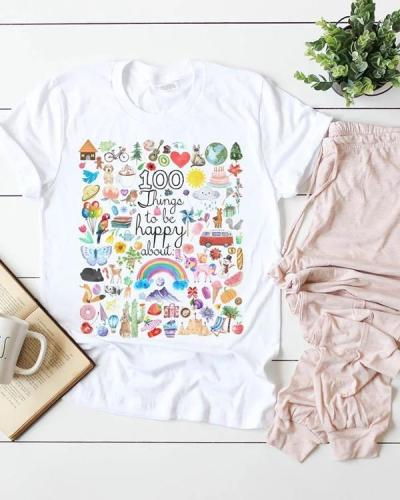 Casual Cute Flowers Tees T-shirt