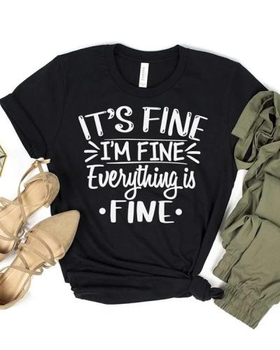Casual Letter Print Tees T-shirt