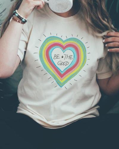 Casual Be The Good Tees T-shirt