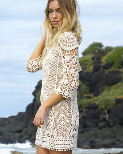 Bohemian Sexy Cutout Halter Strap Beach Skirt Blouse