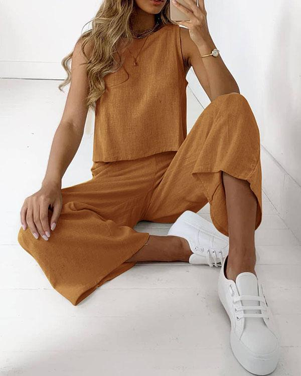 Women's Basic Streetwear Plain Vacation Casual Daily Two Piece Set