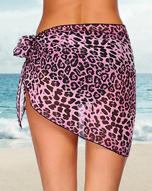 Women Short Sarongs Beach Wrap Sheer Bikini Wraps Chiffon Cover Ups
