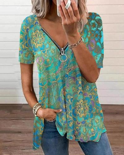 Bright Boost Printed Top