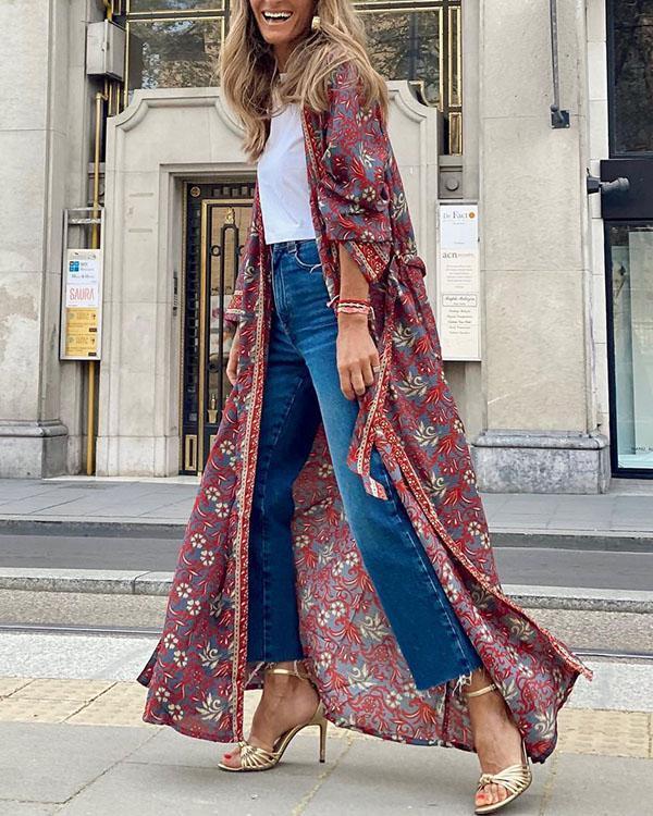 Women's Boho Cardigan Sun Protection Linen Cotton Coat
