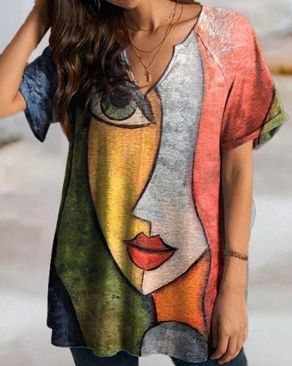 Personalized Character Print Women Blouse&Shirts