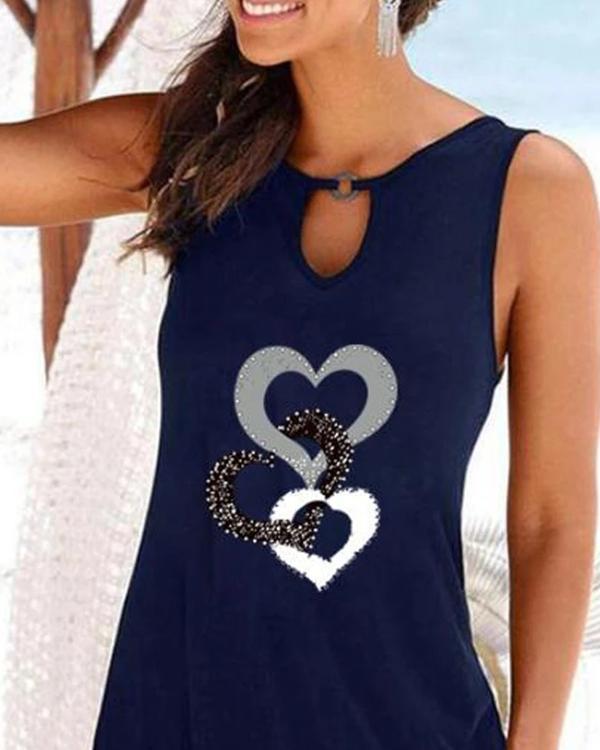Summer Loose Hollow Print Dress