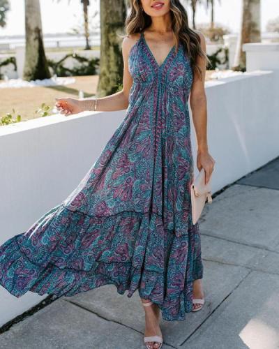 Sleeveless A-line Casual/Vacation Maxi Dresses