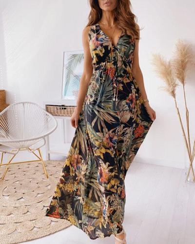 Womens Maxi High-low Halter Handkerchief Long Dress Beach Party