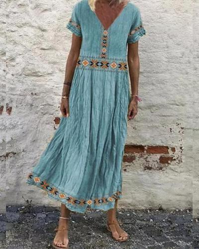 Women's Casual Print Maxi Dress