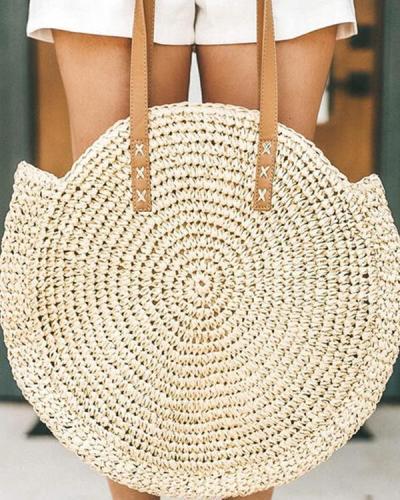 Fashion Braided Polyester Shoulder Bags Beach Bags