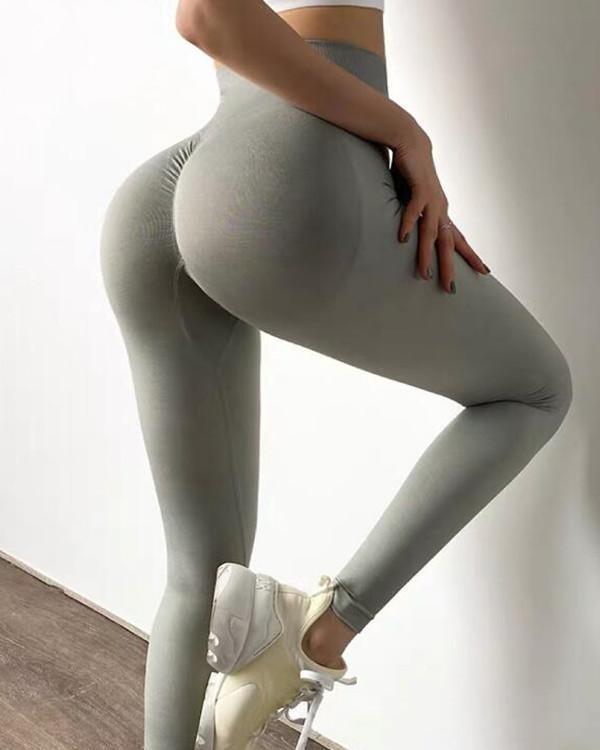 High Waist Elastic Tight Yoga Leggings