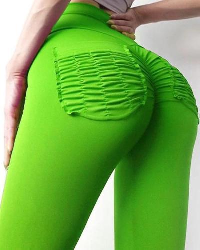 Hip Lifting Hyper Flexible High-Rise Tummy Control Workout Leggings