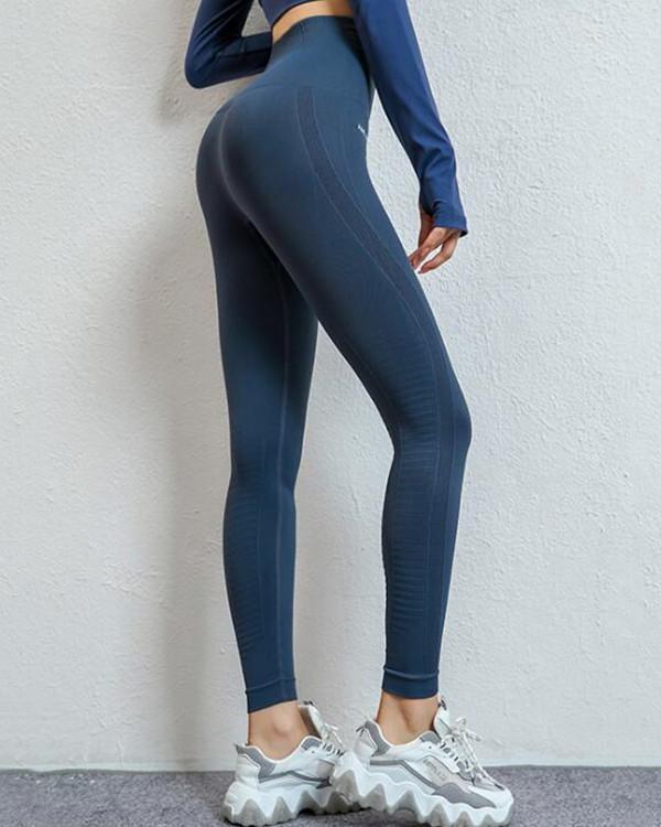 High Waist Solid Color Yoga Legging