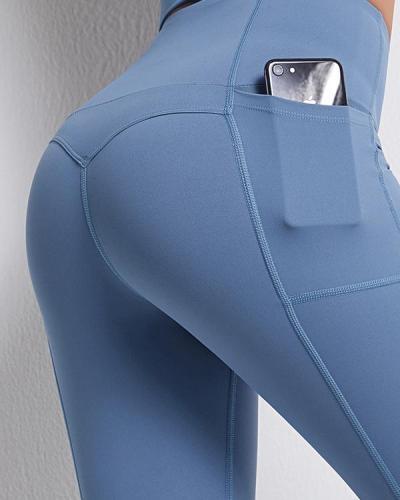 High Waist Yoga Pants Sports Leggings With Pocket