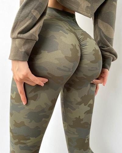 High Waist Camouflage Quick-drying Yoga Leggings