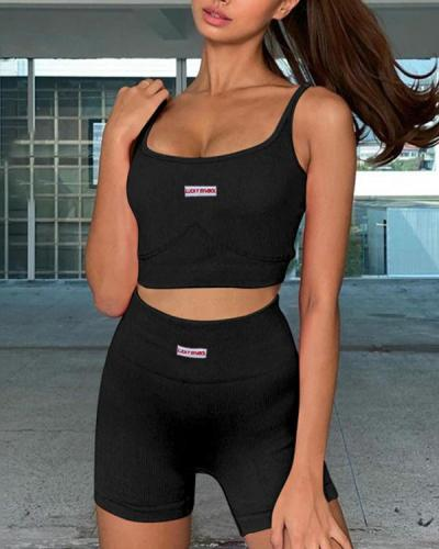 New Seamless Knitted Yoga Suit