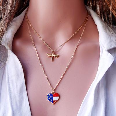 Casual Star Water Drop Gemstone Pendant Necklaces