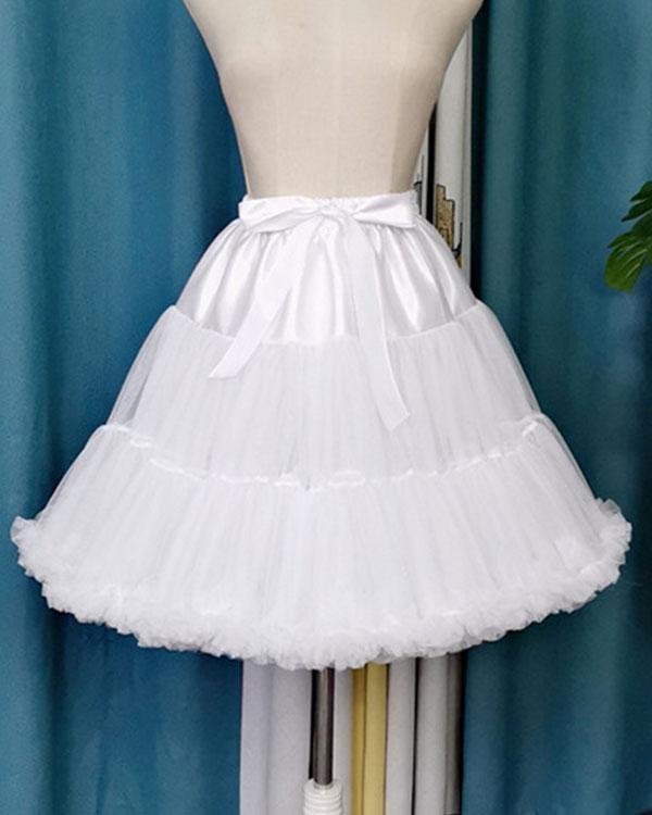 Tulle Lolita Petticoat Cosplay Party Dress Petticoat Ballet Tutu Underskirt