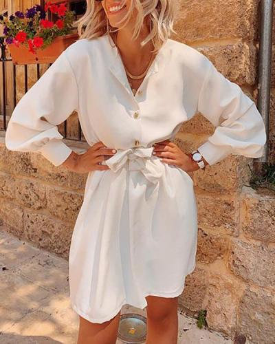 Elegant Long Sleeve Sexy Deep v Neck Dress